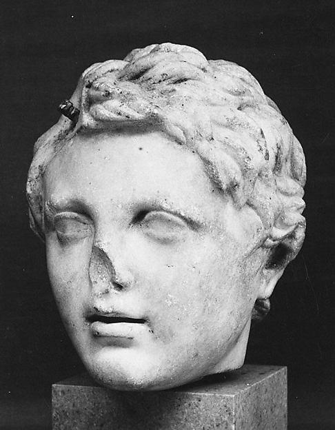 Marble head of a boy