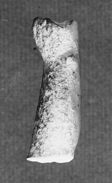 Marble leg from a statuette