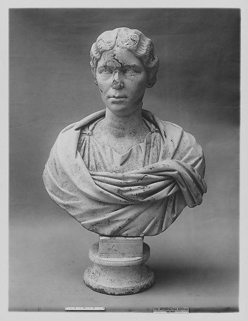 Marble portrait bust of a woman