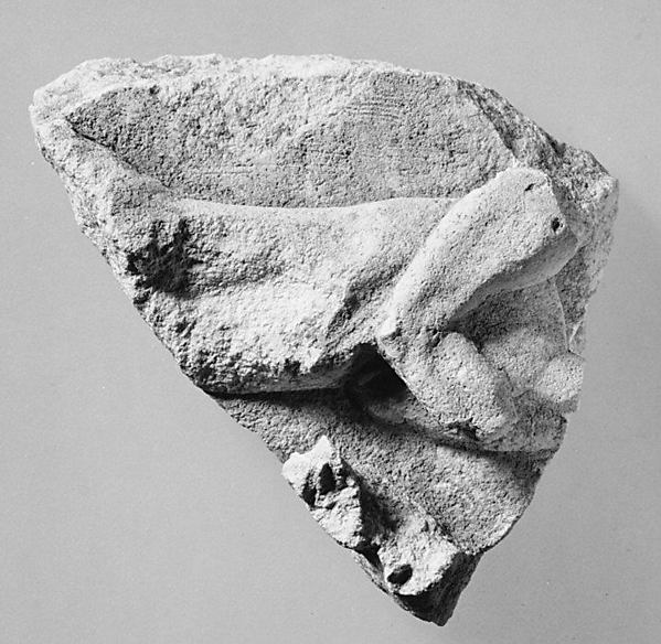 Fragments of drapery