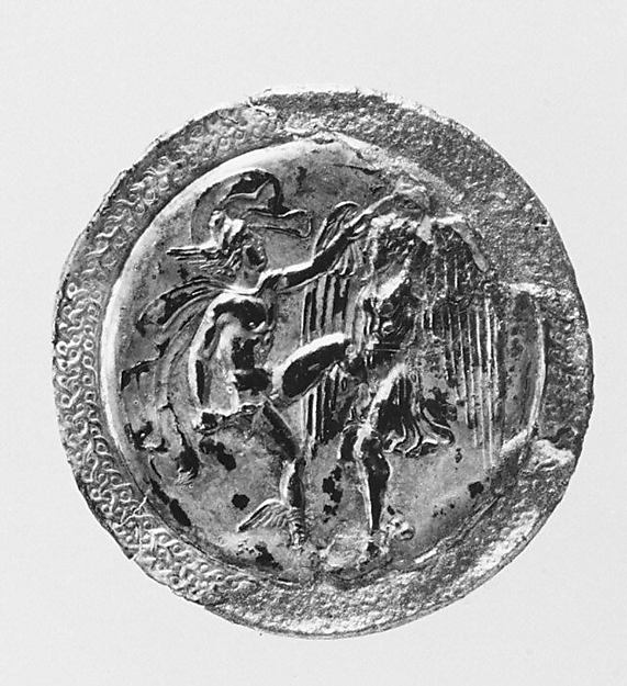 Two silver roundels