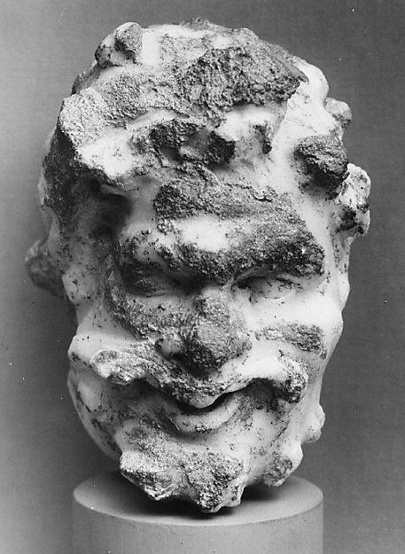 Marble head of a satyr