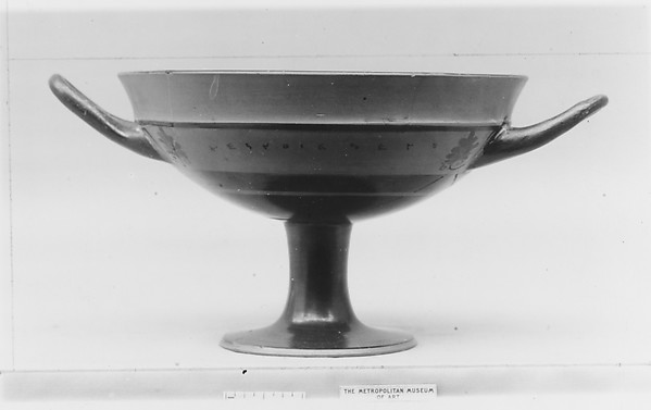 Terracotta kylix: lip-cup (drinking cup)