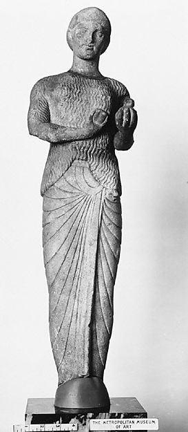 Marble Kore statuette