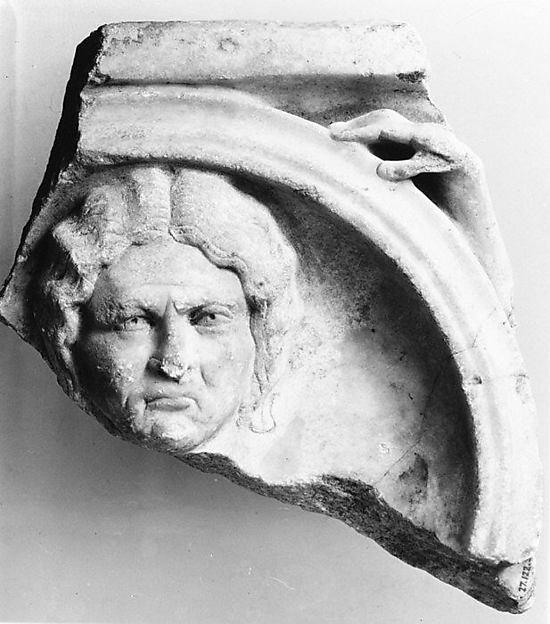 Marble sarcophagus fragment