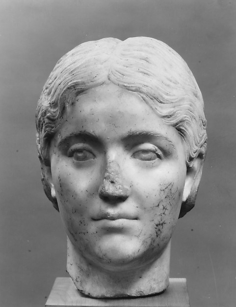Marble portrait of a young woman