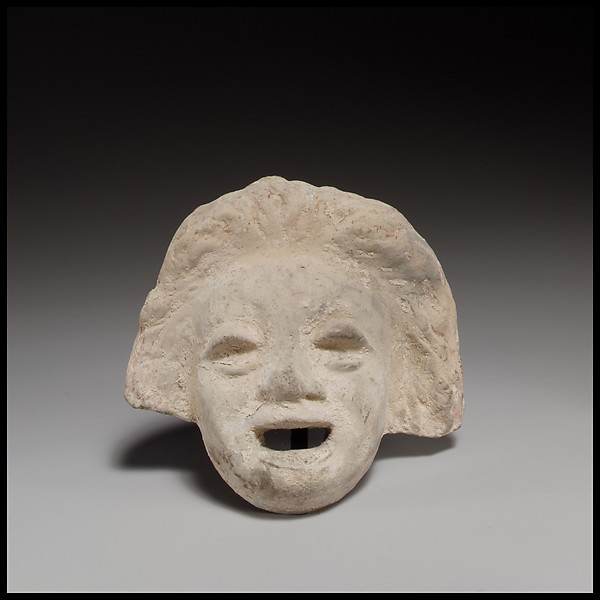 Terracotta comic mask