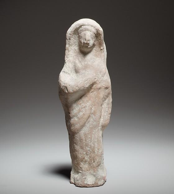 Standing female figurine