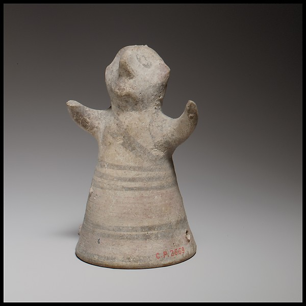 Standing male figurine with uplifted arms
