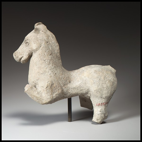 Terracotta statuette of a horse