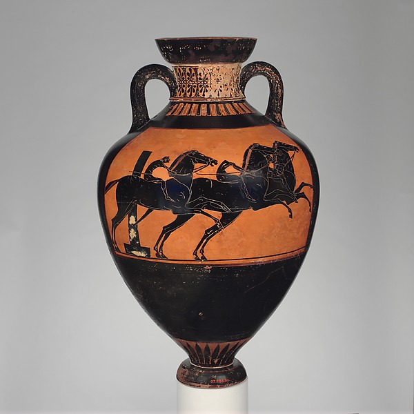 Terracotta Panathenaic prize amphora (jar)
