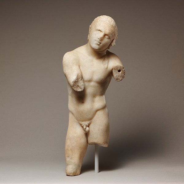 Small marble statue of an athlete