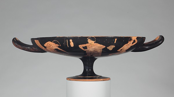 Terracotta kylix (drinking cup)