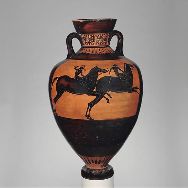 Terracotta Panathenaic prize amphora (jar)