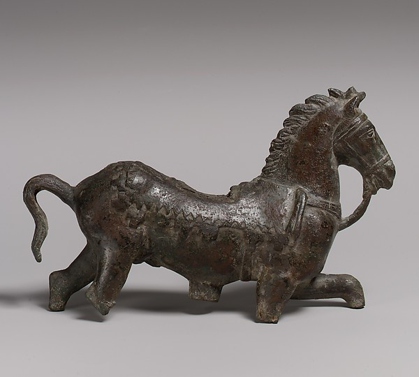 Bronze statuette of a horse