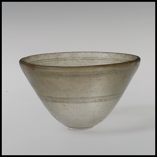 Glass conical bowl