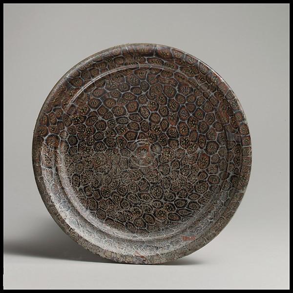 Glass mosaic dish