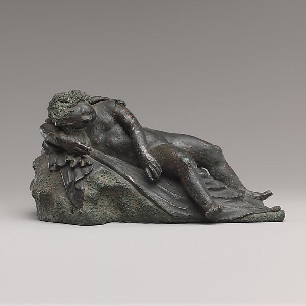 Bronze statuette of Eros sleeping