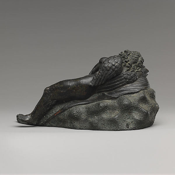 Bronze statuette of Eros sleeping