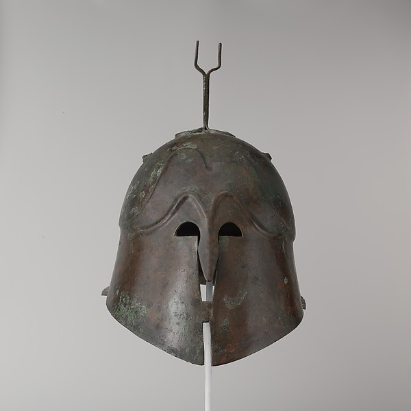Bronze helmet of Apulian-Corinthian type