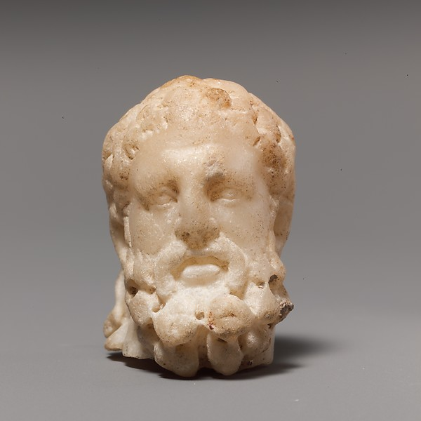 Marble head of Hercules
