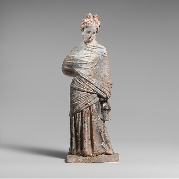 Terracotta draped woman