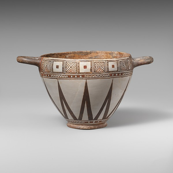Terracotta skyphos (drinking cup)
