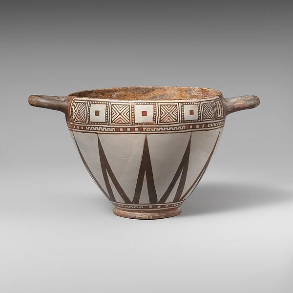 Terracotta skyphos (drinking cup)