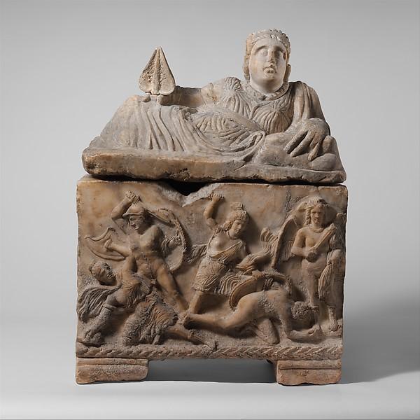 Alabaster cinerary urn