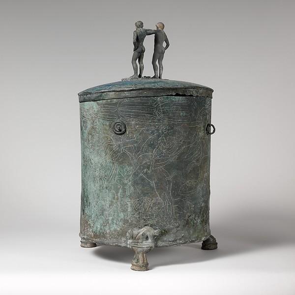 Bronze cista (toiletries box)