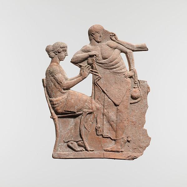 Terracotta relief