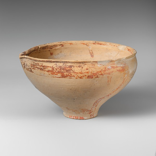 Terracotta pulled rim bowl