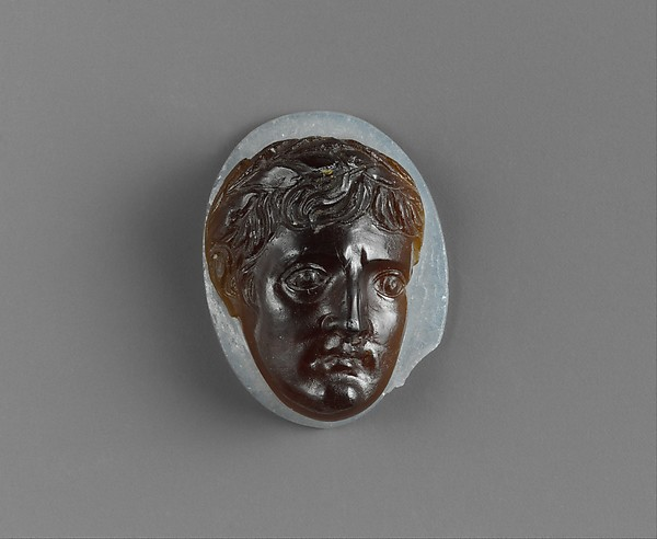 Glass cameo: head of Augustus