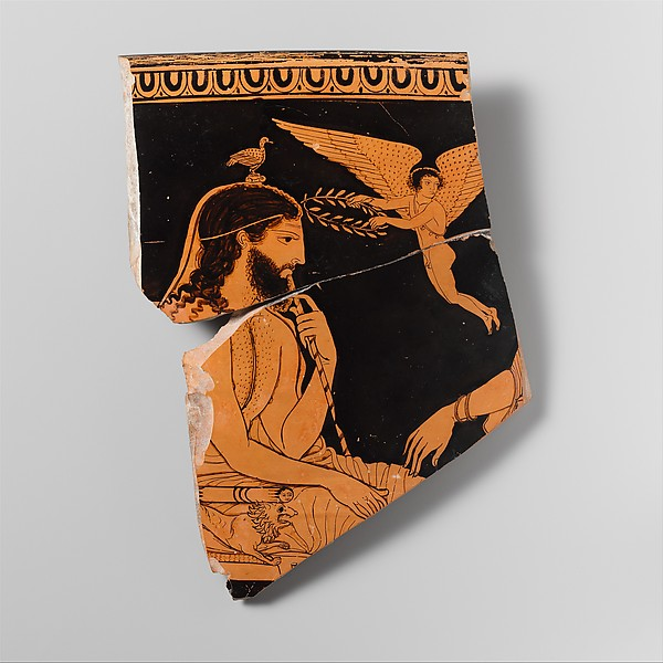 Fragment of a terracotta skyphos (deep drinking cup)