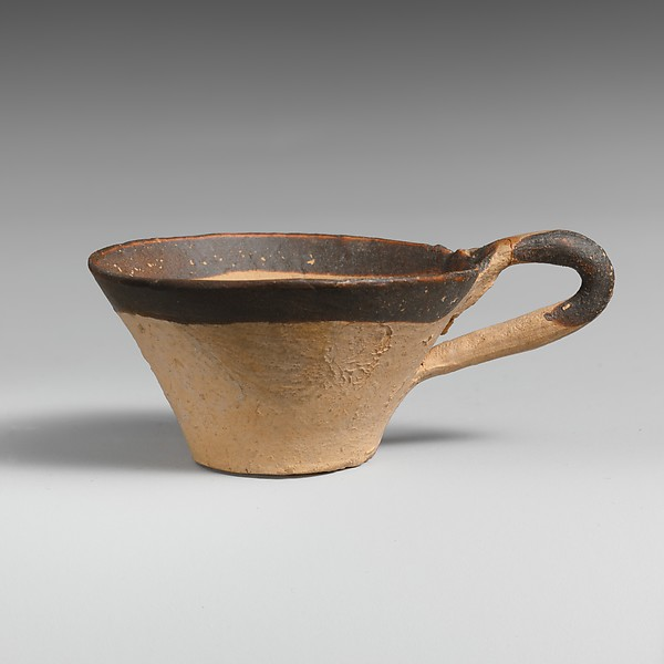 Terracotta miniature one-handled cup