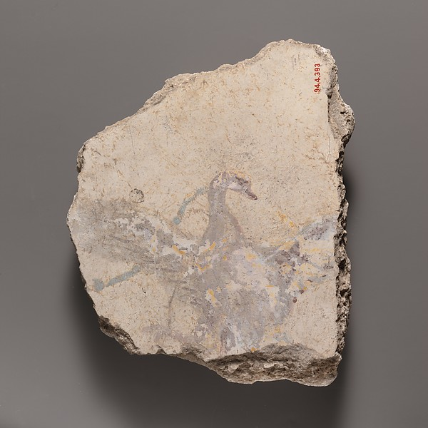 Wall painting fragment with a swan