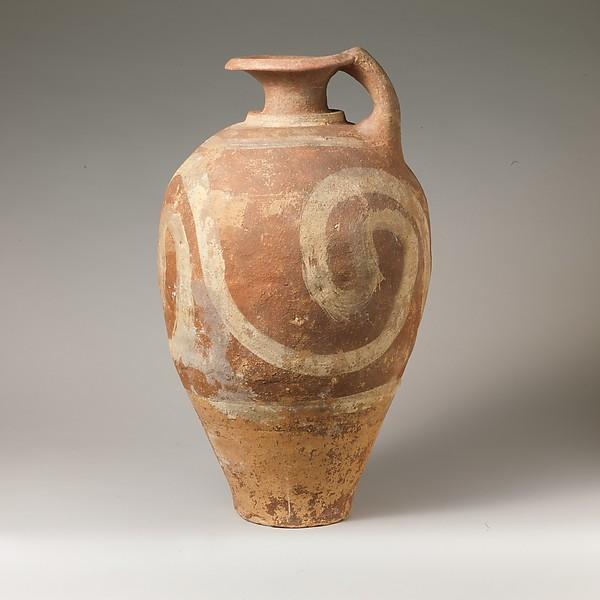 Terracotta jug with spirals