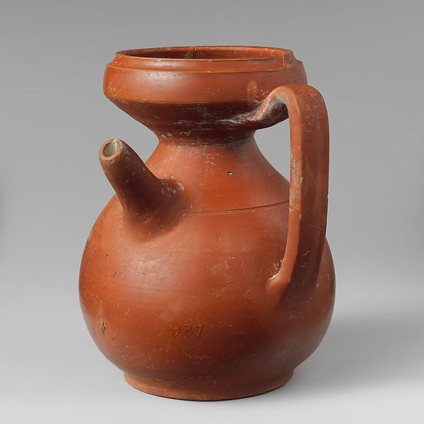 Terracotta strainer jug