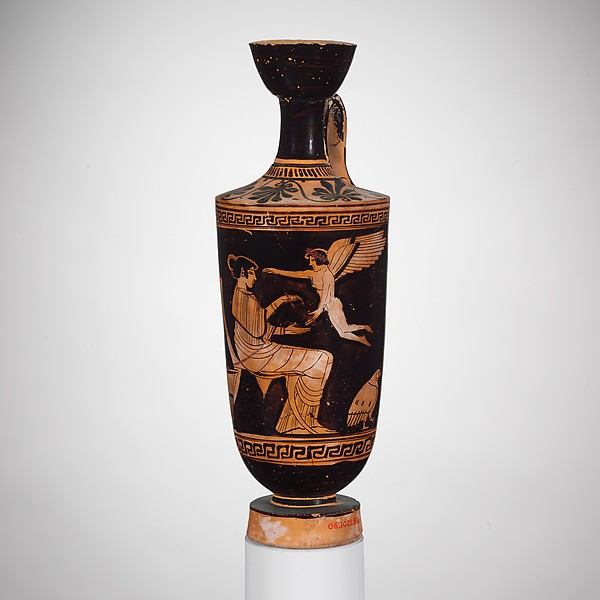 Terracotta lekythos (oil jar)