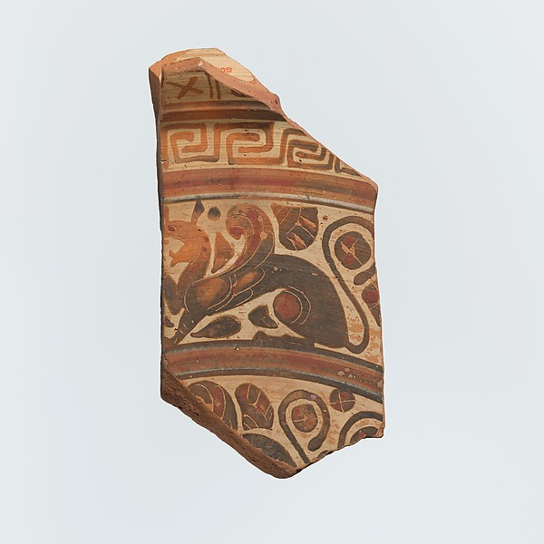 Fragment of a terracotta plate
