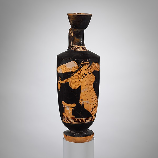 Terracotta lekythos (oil jar)