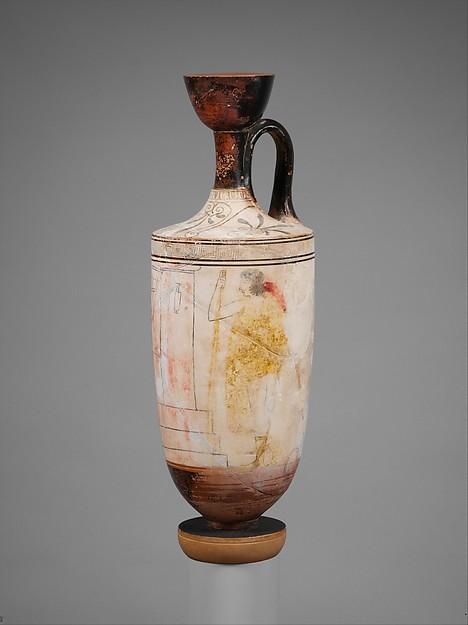 Terracotta lekythos (perfume flask)