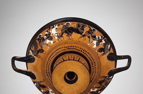 Terracotta kylix: Droop cup (drinking cup)