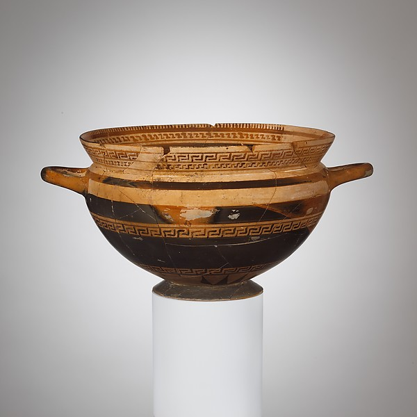 Terracotta skyphos (deep drinking cup)