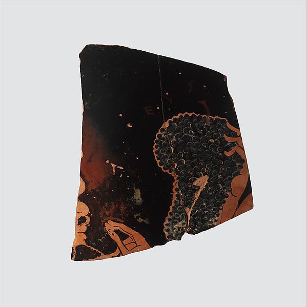 Fragment of a terracotta neck-amphora (jar)