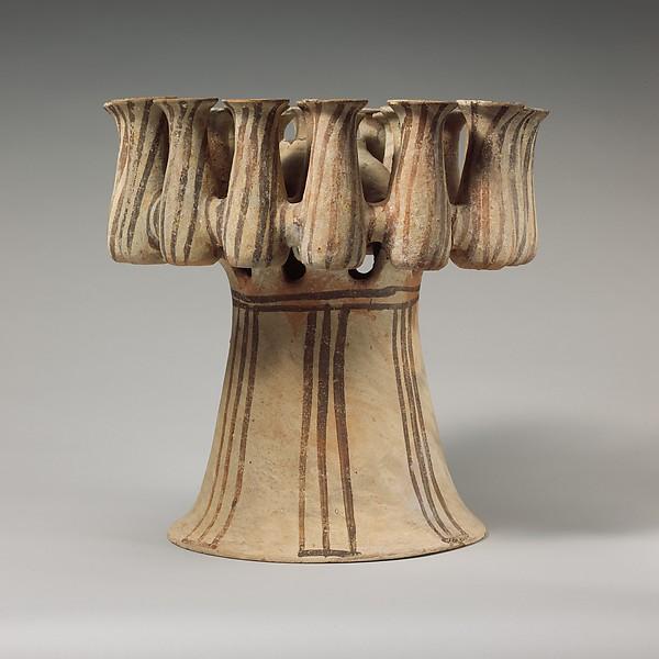 Terracotta kernos (vase for multiple offerings)
