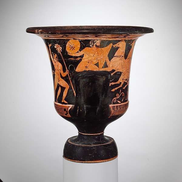 Terracotta calyx-krater (vase for mixing wine and water)