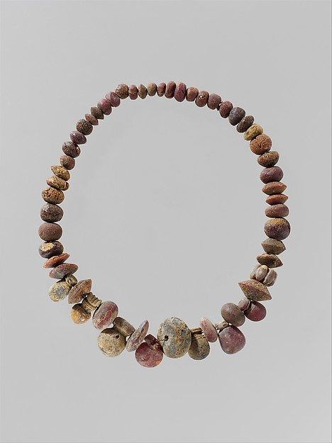 Modern reconstruction of ancient pendants and beads