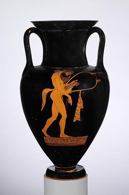 Terracotta Nolan neck-amphora (jar)