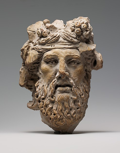 Terracotta head of Dionysos